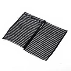 Rambut portabel stiker Bang pemasangan stiker aksesoris rambut hitam - 2 buah/set