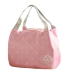 Portable Lunch Bag Tote Piknik Insulated Pendingin Zipper Organizer Siang Box Merah Muda Intl Terbaru