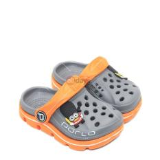 Porto Sepatu Sandal Selop Anak Laki Laki 1006 T - Grey/Orange