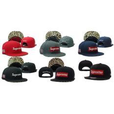 Pre Order Topi Snapback Supreme Lv Leopard Hitam Merah Import - 677Cb7