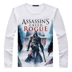 Predo Lawrence Assassins Creed 5 Revolusi Kaos Komik Lengan Panjang Pria dan Wanita B421-542P25-Intl