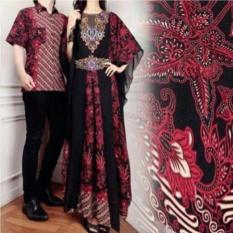 Premium Couple Kaftan Alivia Batik - Maroon