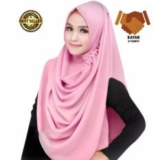Premium Hijab Impor Jilbab Instan LCB Jilbab Instan (Hijab Instant) Khimar Syar'i Berkualitas - Dusty Pink