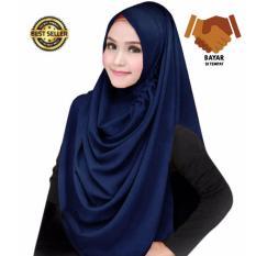 Premium Hijab Impor Jilbab Instan LCB Jilbab Instan (Hijab Instant) Khimar Syar'i Berkualitas - Navy