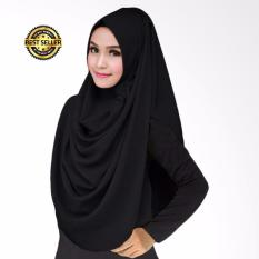 Premium Hijab Impor Jilbab Instan LCB Jilbab Instan (Hijab Instant) Khimar Syar'i HITAM - Toko Berkah Online
