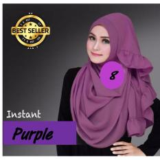 Premium Hijab Impor Jilbab Instan Sarah (Hijab Instant) PURPLE - Toko Berkah Online