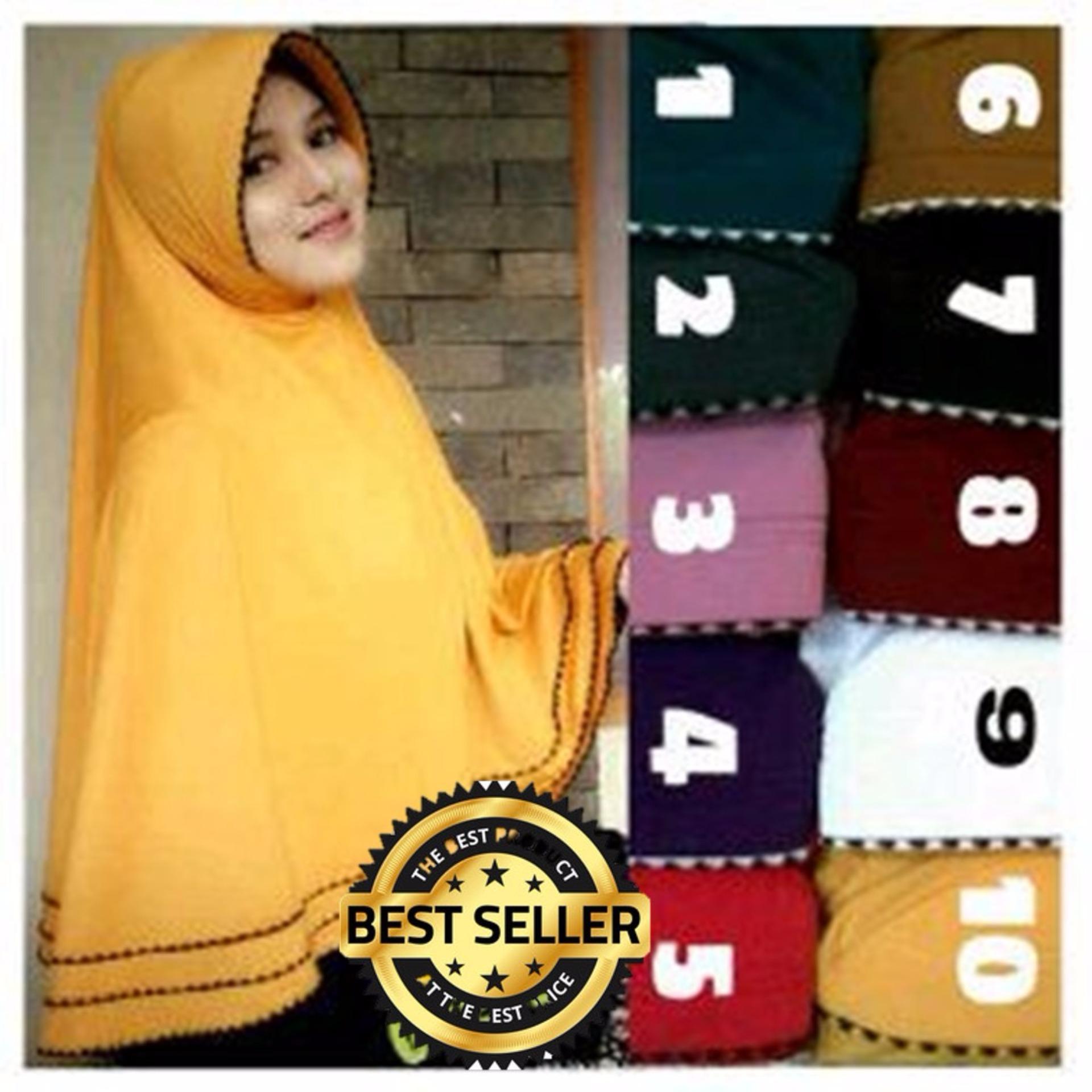 Tidak Mudah Kusut Premium Hijab Impor Syar'i Renda Bawah (Jilbab Instant) - Toko Berkah Online