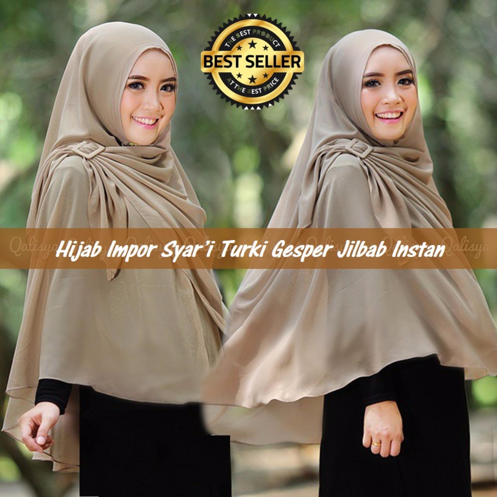 Harga Diskon Promo Jilbab Kerudung Hijab Khimar Syari Bergo Jumbo Instan Rempel Tidak Mudah Kusut Premium Impor Turki Gesper Instant Coksu