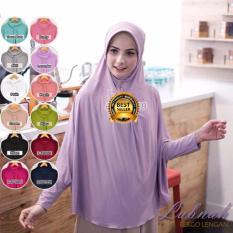 Premium Jilbab (Hijab) Kerudung Instan Bergo Lengan Lubnah Jumbo Toko Berkah Online