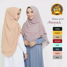 Premium Jilbab (Hijab) Kerudung Instan Khimar Syar'i Aisyah Serut Toko Berkah Online