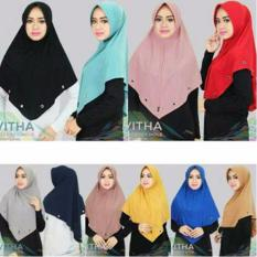 Premium Jilbab (Hijab) Kerudung Instan Khimar Syar'i  Jersey Hole Vitha Toko Berkah Online