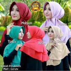 Premium Jilbab (Hijab) Kerudung Instan Khimar Syar'i Rubiah Pet Antem Ceruti Toko Berkah Online