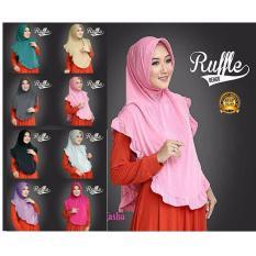 Premium Jilbab (Hijab) Kerudung Instan Khimar Syar'i Ruffle Bergo Toko Berkah Online