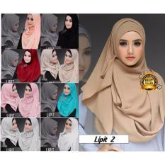 Premium Jilbab (Hijab) Kerudung Instan Lipit Toko Berkah Online