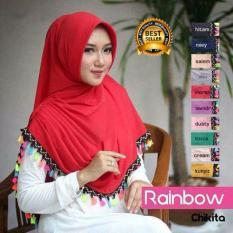 Premium Jilbab (Hijab) Kerudung Instan Rainbow Toko Berkah Online