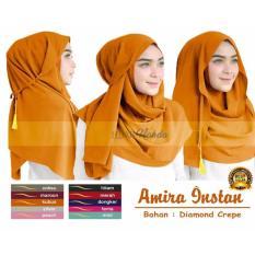 Premium Jilbab (Hijab) Kerudung Instant Pashmina 3in1 Amira Toko Berkah Online