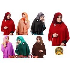 Toko Premium Jilbab Hijab Kerudung Instant Pet Chiffon 2 Tone Lulu Mihyu Lengkap Jawa Barat