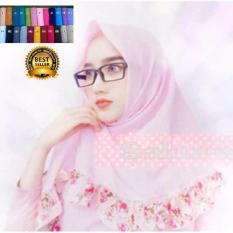 Premium Jilbab (HIjab) Kerudung ISegiempat Paris Rempel Bunga Toko Berkah Online