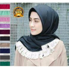 Premium Jilbab (Hijab) Segiempat Rumbai Dayak Toko Berkah Online