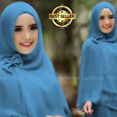 Beli Premium Jilbab Syar I Tanpa Pet Model Khimar Dhea Free Bross Pita Biru Toko Berkah Online Nyicil