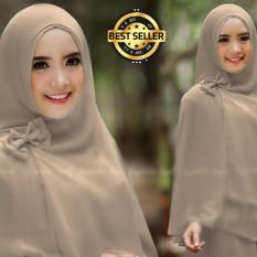 Premium Jilbab Syar'i Tanpa Pet Model Khimar Dhea FREE Bross Pita – COKLAT Toko Berkah Online