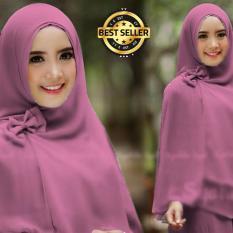 Premium Jilbab Syar'i Tanpa Pet Model Khimar Dhea FREE Bross Pita – Dusty Pink Toko Berkah Online