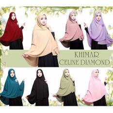 Premium Kerudung (Jilbab) Khimar Celine Diamond Toko Berkah Online