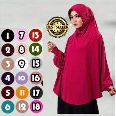 Premium Khadijah Bergo Lengan Bahan Jersey (Hijab/Jilbab Syar'i Instant) - Lulu Mihyu