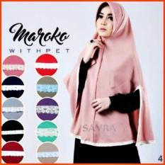 Premium Khimar (Hijab) Jilbab Syari Maroko Withpet Toko Berkah Online