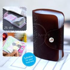 PREMIUM Dompet Kartu nama 26 Slot /Dompet Kartu ATM/credit card OR 92-01 BLINK - Brown