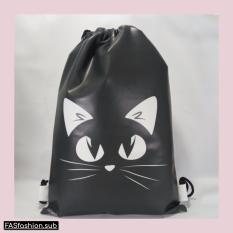 Premium String Bag/Tas Serut Cat Face