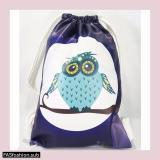 Beli Premium String Bag Tas Serut Owl Dark Online Terpercaya