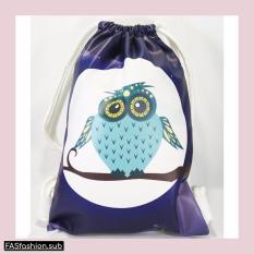 Harga Premium String Bag Tas Serut Owl Dark Lengkap