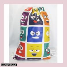 Spesifikasi Premium String Bag Tas Serut Emoji Box Murah Berkualitas