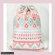 Premium String Bag/Tas Serut Tribal Pink