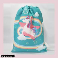 Jual Premium String Bag Tas Serut Unicorn Tosca Branded Original