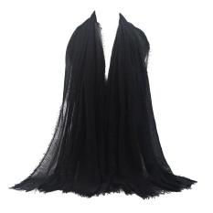 Premium Viscose Besar Crinkle Awan Jilbab Syal Selendang Lembut Islam Muslim BK13 #-Internasional