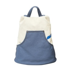 Beli Preppy Style Denim Canvas Shoulder Bag Youth Women Sch**l Ransel Biru Intl Cicilan
