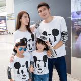 Obral Prettyladdies Kaos Family Couple 2 Anak Mouse Ayah Ibu 2 Anak Lengan Panjang Murah