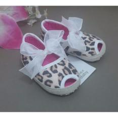 Prewalker Zara Baby Leopard White Ribbon
