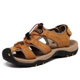 Review Kayu Cendana The Man Terbuat Dari Kulit Asli Tahan Lama Musim Panas Pantai Sepatu Datar Sandal Kuning Oem Di Tiongkok