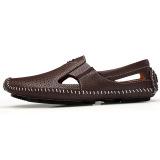 Beli Pria Berongga Bernapas Modis Sepatu Kulit Kecil Sepatu Mengemudi Coklat Muda Sepatu Pria Sepatu Sendal Tiongkok