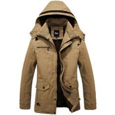 Pria Bulu Musim Dingin Mantel Winter Jacket Men Parka Thermal Oto1 Coklat Muda Warna Jaket Pria Jaket Gunung Other Diskon 40