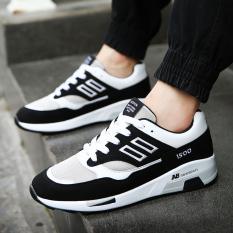 BYL-DJ Sepatu Olahraga Kasual Laki-laki, Tren/Papan Sepatu Pria (Hitam)
