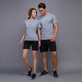 Beli Beberapa Pakaian Olah Raga Kebugaran Pria Dan Wanita Kasual Lengan Panjang T Shirt Abu Abu Terang Satu Set Online Tiongkok