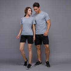 Toko Beberapa Pakaian Olah Raga Kebugaran Pria Dan Wanita Kasual Lengan Panjang T Shirt Abu Abu Terang Satu Set Termurah Di Tiongkok