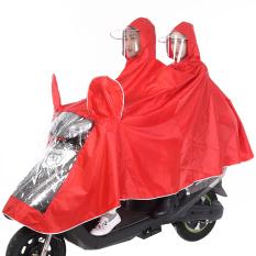 Wanita Sepeda Listrik Dewasa Dua Orang Jas Hujan Mobil Listrik Jas Hujan Ada Cermin Penutup Oranye Dua Orang Promo Beli 1 Gratis 1