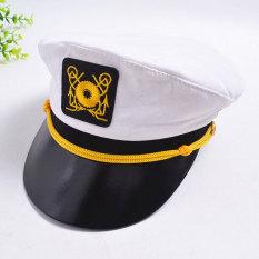 Ulasan Mengenai Pria Dan Wanita Kostum Kapten Kinerja Topi Pantai Topi Angkatan Laut Topi Putih