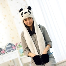 Pria Dan Wanita Syal Sarung Tangan Satu Topi Mewah Topi Panda Diskon Akhir Tahun