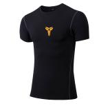Spesifikasi Pria Elastis Tinggi Cepat Kering Kebugaran Pakaian Workout Pelatihan Rompi Lengan Pendek Bryant Hitam Online